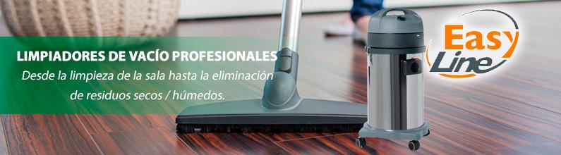 LIMPIADORES DE VACÍO PROFESIONALES: Aspiradoras secas y húmedas con barriles de acero de 22 a 77 litros.