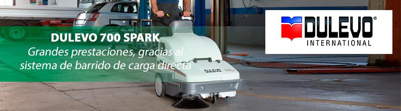 DULEVO 700 Spark: Óptimos resultados en cualquier tipo de superficie, alfombras incluidas.