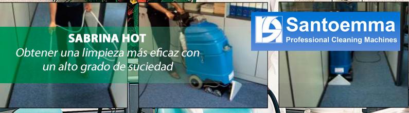 SABRINA HOT: Es la más pequeña máquina de inyección-extracción con calentador instantáneo del agua.