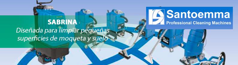 SABRINA: Diseñada para limpiar pequeñas superficies de moqueta y suelo.
